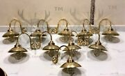 Nautical Antique Ship Marine New Brass Arched Curve Swan Light With Shade Lot 10