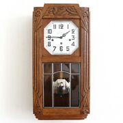 Wall Top Clock Bells Of Jura Westminster Chime Antique Art Deco France Restored