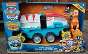Paw Patrol Dino Rescue Dino Patroller Motorized Vehicle With Chase And T.rex - New