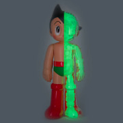 Limited Ed Toyqube Diecast Astro Boy Glow Figure Astroboy Dissected Kaws