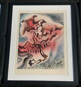 Yea Though I Walk Through The Valley..salvador Dali Orig Signed 107/250 Litho