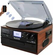 New Bluetooth 3-speed Record Player Turntable Cd Cassette Am/fm Usb/sdaux Remote