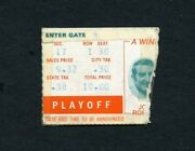 1972 Nfl Afc Divisional Playoff Ticket Stub Miami Dolphins Browns Perfect Season