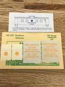 Rare Champ Decals Ho Scale Hc-235 Southern Sr Caboose H-3