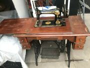 Singer Antique Sewing Machine With Cabinet / Table. In La