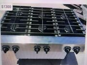 36 Kitchen Aid Stainless Gas Range Top, 6 Or 4+ Griddle, N Gas Or Propane