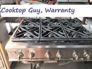 36 Ge Monogram Stainless Gas Range Top 6 Or 4+ Grill In La New Spark Module