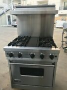 30 Viking Dual Fuel Stainless Range With High Shelf In Los Angeles