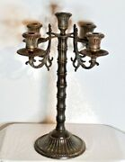 Large Gothic Candelabra Candle Holder Holds 5 Candles Metal Religious Funeral