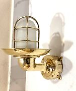 Nautical Sconce Passage Wall Light Extra Shade Junction Box White Glass Lot 10