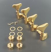 Grover Bass 4 Inline Set - Gold 144g4 Mini Tuners  Fast Shipping