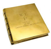 And Co. Gilt Sterling Silver Box Formed Book 25190 Wep Embassy Of The Us