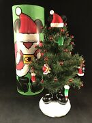 Disney Parks Mickey Mouse Mailable Christmas Tree With Ornaments Decoration