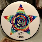 Beatles Ringo Starr Signed Autographed Starry Remo Drum Head Rare
