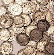 10 @ 90 Silver Coin Lot - 1946- 1964 Fdr Roosevelt Dimes Random Unsearched