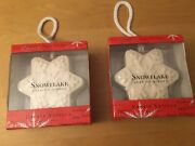 2 Snowflake Soap On A Rope Frosty Vanilla 10.5 Oz Brand New