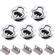 5pcs Marine Boat Stainless Steel 2and039and039 50mm Flush Pull Hatch Lock Slam Latch Lift