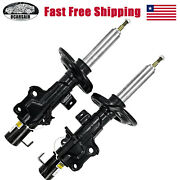 Pair Front Shock Absorbers For Cadillac Cts Ats W/upper Mount 23247469 23247470