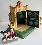 Disney Tower Of Terror Resin Hinged Figurine With Mickey Mouse And Goofy Figure