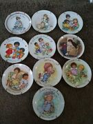 Avon Mothers Day Plates Porcelain Trimmed With 22k Gold Special Memory Plates