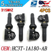 4pcs Hc3z1a189a Tire Pressure Monitor System Tpms Sensor For Ford Fusion Lincoln