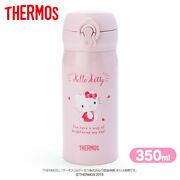 Hello Kitty Thermos One Push Stainless Mug Bottle Pink 350ml