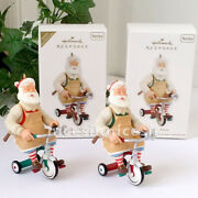 Hallmark 2011 Toymaker Santa 12th And Colorway Repaint Register To Win 2 Ornaments