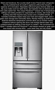 New Nib Samsung Stainless French Twin Cooling Counter Depth 4-door Refrigerator
