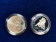 🌟2 1995-s Civil War Proof And Bu Silver Dollar Commemorative Us 1 Coins