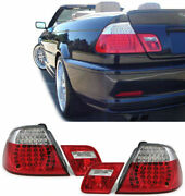 Clear Led Tail Lights Rear Lamps For Bmw E46 Convertible Cabrio 9/2000-2/2007