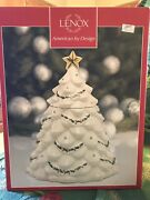 Lenox The Jeweled Christmas Tree Cookie Jar In Box With