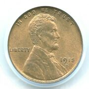 1915-d Lincoln Cent Pcgs Ms65rb