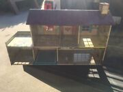 Vintage 1950's Marx Tin Litho 2 Story Colonial Dollhouse With Rare Disney Room