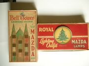 Vintage Bell Tower And Royal C6 Christmas Bell Lights - 25 Extra Bulbs - 1930and039s