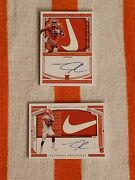 2020 National Treasures Collegiate Tee Higgins Rookie Patch Auto 1/2 And 2/2 Rare
