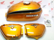 Honda Cb 750 Four K2 Paint Set Candy Gold Custo Tank+side Cover+attachment Parts