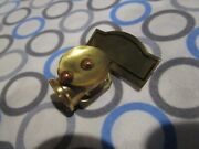 Vintage Brass Mining Carbide Light Pin Germany New Old Stock