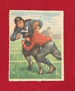 Antique 1915 Harvard Vs Yale Hinds Honey And Almond Cream Football Stamp 11