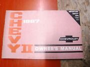 1967 Chevrolet Chevy Ii 2 Factory Owners Manual Operators Guide First Edition