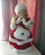 Vintage Telco Motion-ette Lighted Animated Christmas Victorian Girl Lady 24