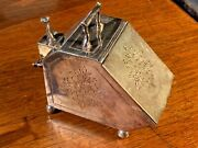 Silver Plated Sugar Scuttle By John Turton And Company Sheffield - Early 1900s