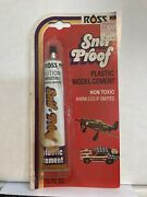 Ross Snif Proof Plastic Model Cement Vintage In Package - Nos