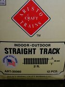 G Scale Aristo Craft Trains Track 12 Pieces 2 Foot Straight Track Art 30060 New