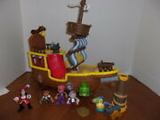 Disney Jake And The Neverland Pirates Large Ship With Figures I.d. Z-3621