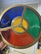 """Mcm Replacement Lens For Aluminum Christmas Tree Color Wheel 4 Colors 10"""" Wide"""