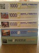 Lot Of 5 Bits And Pieces 500 1000 Piece Puzzles