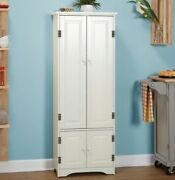 White Extra Tall Cabinet Kitchen Cupboard Bathroom Linen Cabinets Cabinetry New