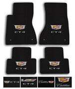 Lloyd Mats For 20-up Cadillac Ct4   Luxe Carpet Luxury Floor Mats - Logo Andcolor