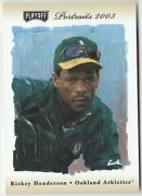 Rare Rickey Henderson Serial And039d 080 /250 2003 Playoff Portraits Beige 142