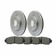 New Front Rotors And Ceramic Pads For 2005 2006 2007 2008 2009 2010 Honda Odyssey